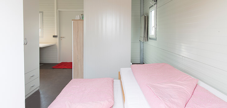 Residential Container - bedside view