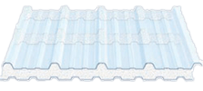 Illustration of a twin wall polycarbonate sheet