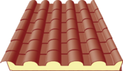 Roof panels in tile profile